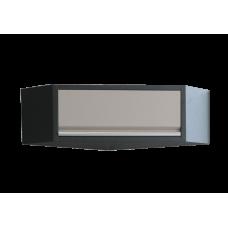 Навесной шкаф угловой серый 865 x 865 x 350