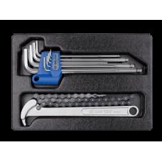Набор инструмента (съемник масл. фильтра цепн.,набор шестигр. 1,5-10 мм)