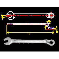 Ключ рожково-накидной с изгибом 45° 6mm