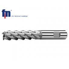 Фреза по металлу 7 x 80 мм цилиндрическая 4-х перая HSS Co8 тип N