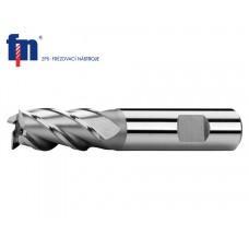 Концевая цилиндрическая фреза с 4 лезвиями для стали HSS Co8 тип N 6 x 57 мм