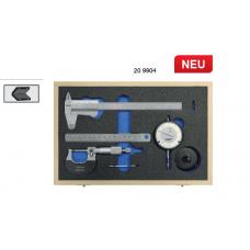 Набор из штангенциркуля, микрометра, индикатора и линейки