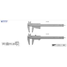 Штангенциркули ШЦ 1 150 с фрезерованным нониусом Vogel